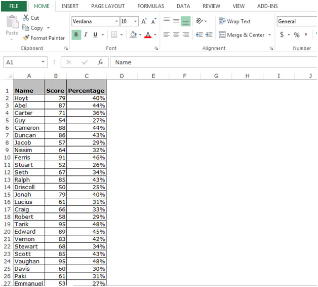 Selecting the Current Region/List in Microsoft Excel 2010