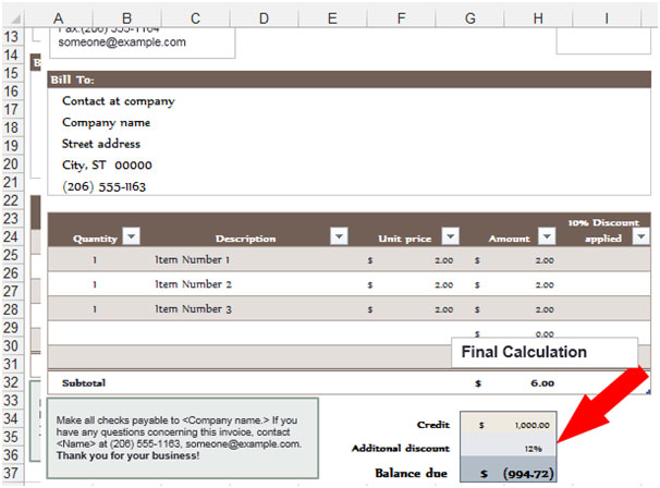microsoft excel purchase order template