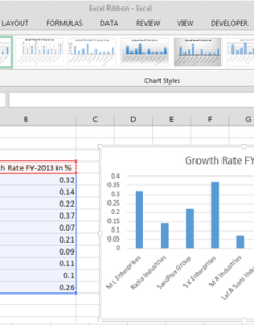 Design tab we use this to change the chart layout can color and styles switch data from row column also contextual in microsoft excel basic rh exceltip