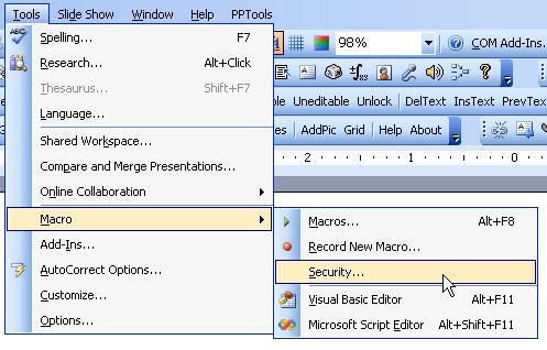 Enabling 2003 macros