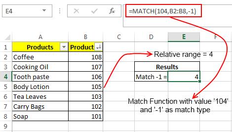 Match Formula Example 2
