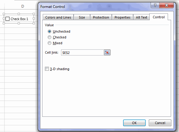 Format Control Cell links