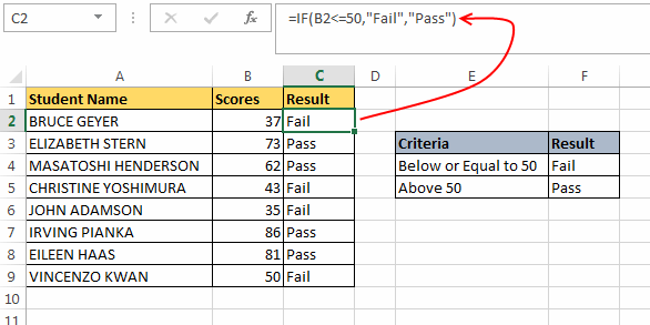 if or statement excel  Excel IF Statement – How to Use