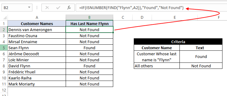 if function with find and search functions