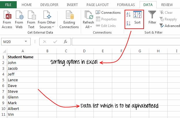 Sort Option In Excel