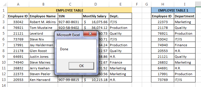 VLOOKUP In VBA – With Examples