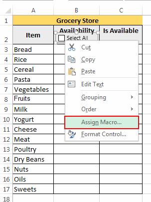 Assign Macro to Checkbox