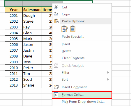 Format-Cells-option-in right-click-menu
