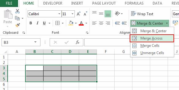 Merge-Across-Option-on Home-tab