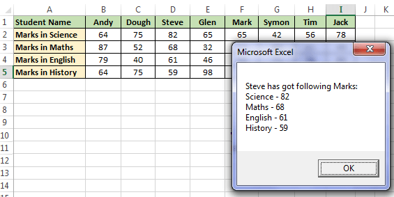 Result of H_Lookup in VBA