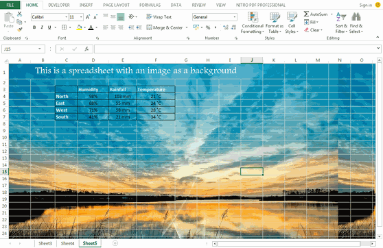 A_spreadsheet_with_background