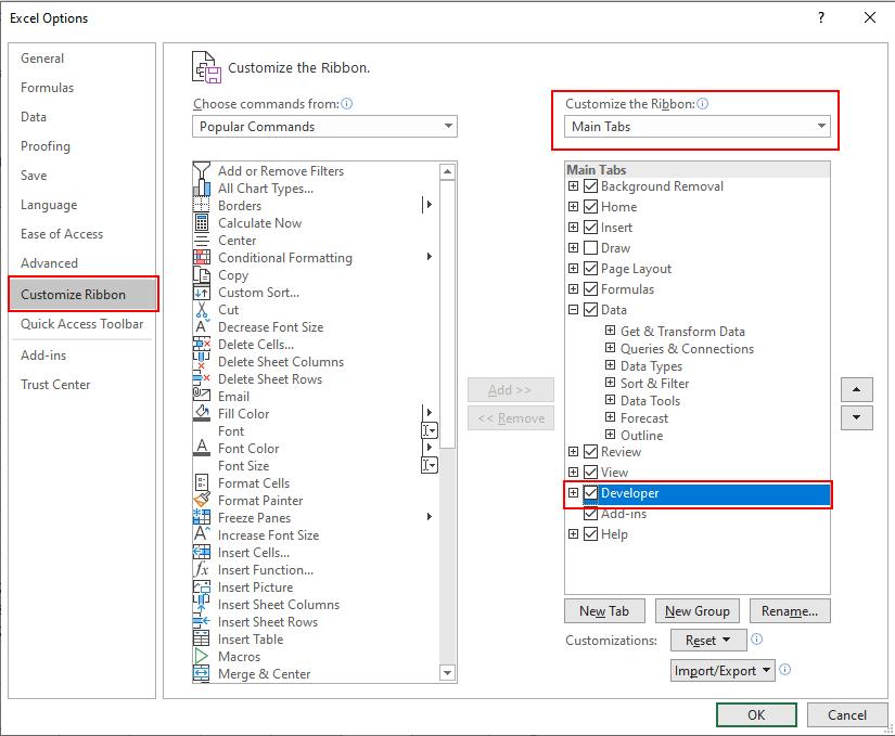 Adding Excel CheckBox