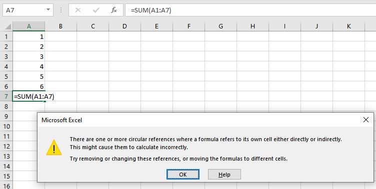 Excel-Circular-References_Error_Message