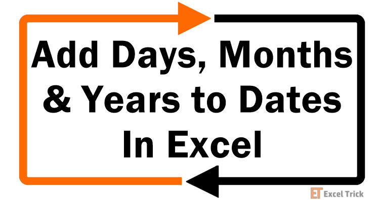 Add Days, Months--& Years to Dates In Excel