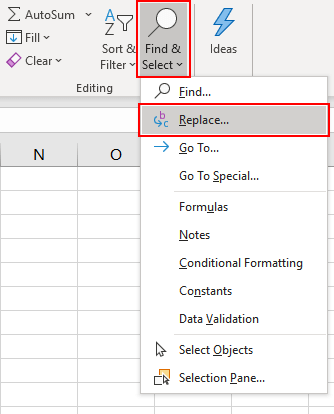 Find-And-Replace-Option-Excel-007
