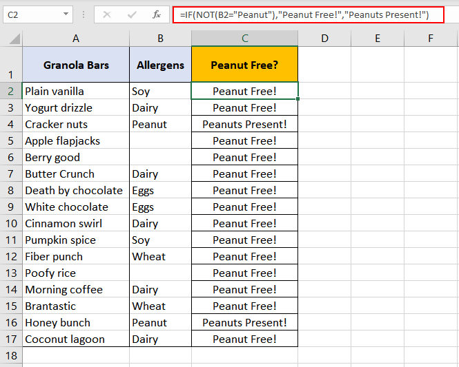 Excel-NOT-Function-Example-02