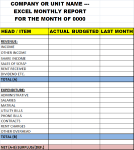 monthly reports templates