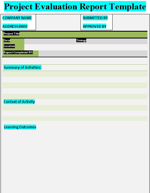 11 evaluation report templates free premium templates
