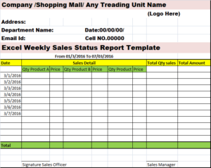 A weekly project status report does exactly what one would think — documents specific information during a project. Top 4 Weekly Status Report Template Excel Word Templates