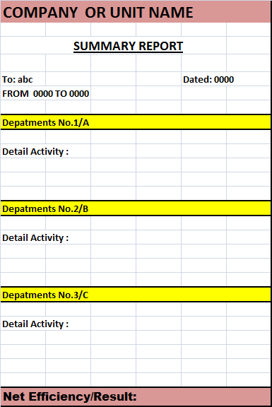 The Report Template Is Created In MS Excel, You Can Easily Download It From  The Link Given Below. It Has All The Necessary Entities That Usually A  Excel ... Photo