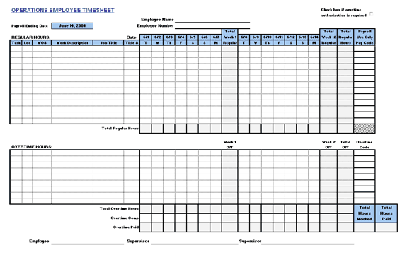 5 operations employee time cards word templates. Black Bedroom Furniture Sets. Home Design Ideas