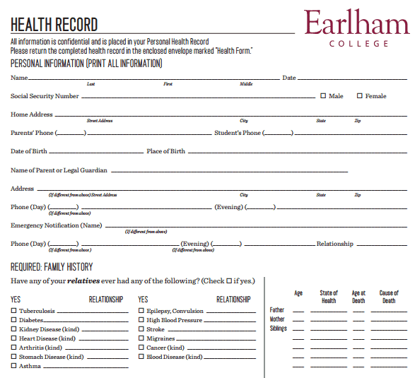 4+ Personal Medical Health Record Sheets – Word Templates