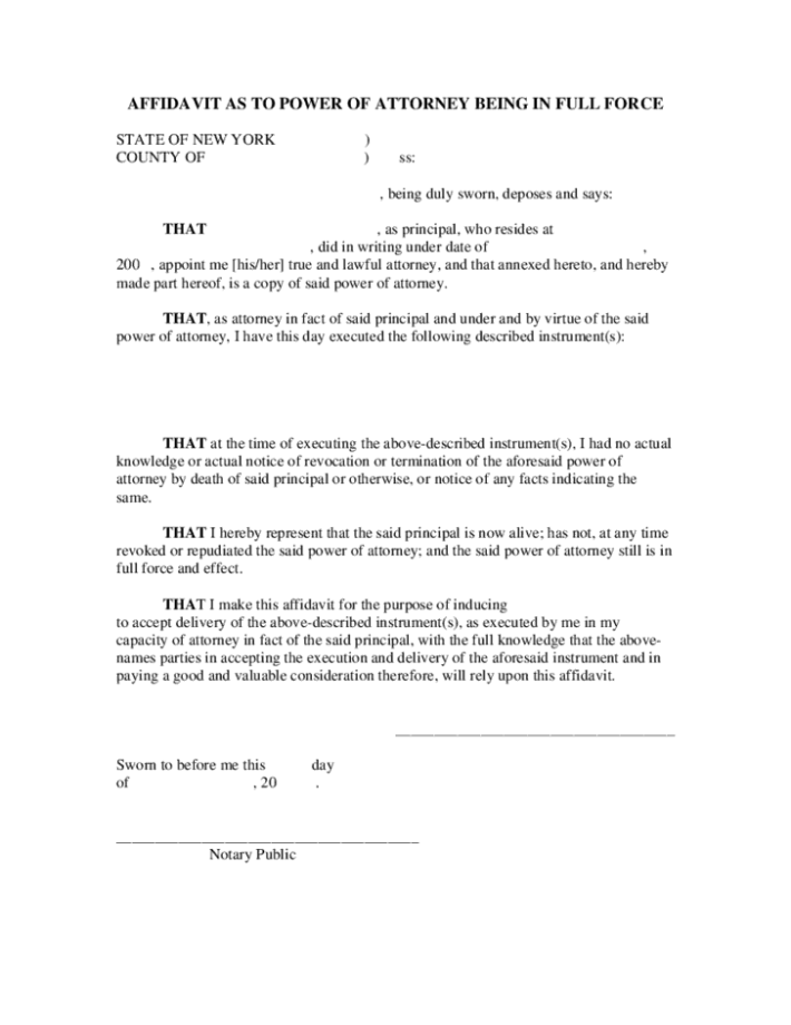 5 power of attorney affidavit forms word templates. Black Bedroom Furniture Sets. Home Design Ideas