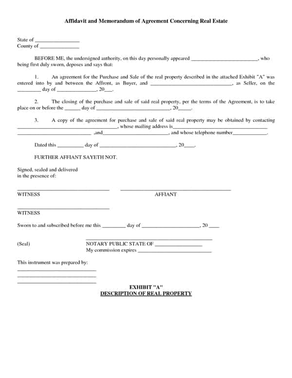 Purchase Agreement Forms – Word Templates