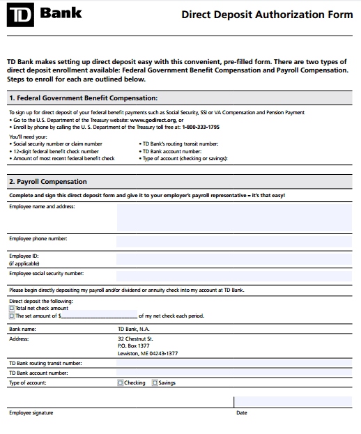 Authorization For Direct Deposit Employee Form Quickbooks. 100 Payroll Direct  Deposit Form Template Direct Deposit .