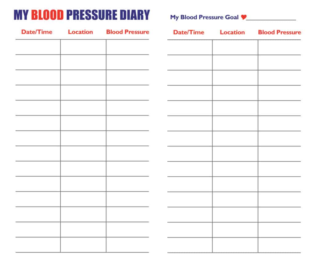 9 Blood Pressure Chart Templates Word Templates