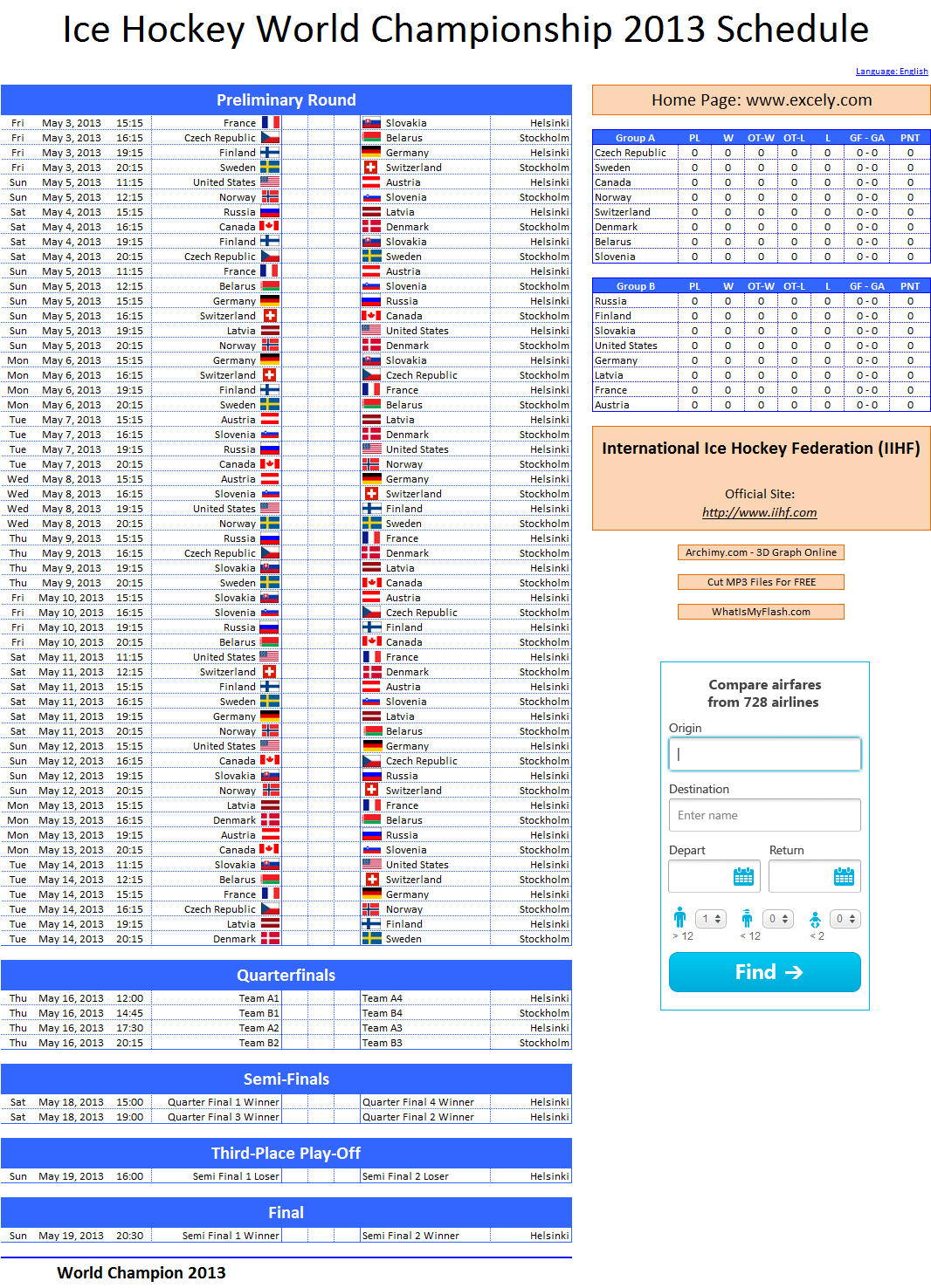 Excel Template to Compare Tournament Predictions - Excel VBA Templates