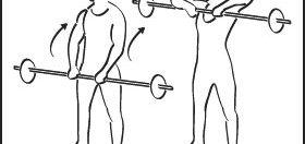 Ejercicio para hombros con barra