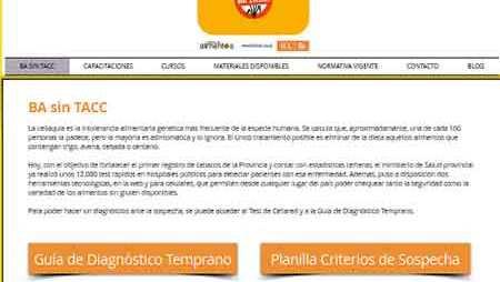 sin tac  Se inauguró la web BA SIN TACC con información para celiacos