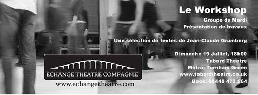 bannière spectacle théâtre une sélection de scènes de jean-claude grumberg le workshop