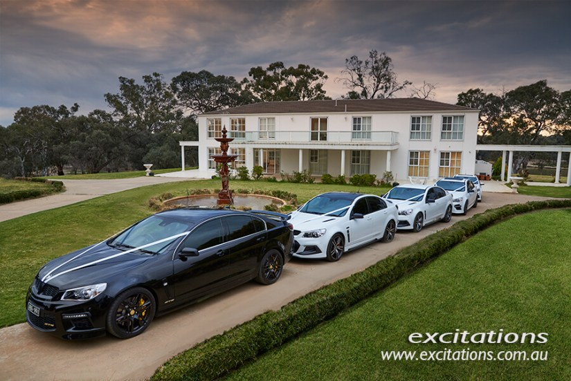 Wedding cars at Jimba. Mildura wedding photographers, Excitations.