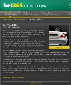 Bet365 Casino Prizes