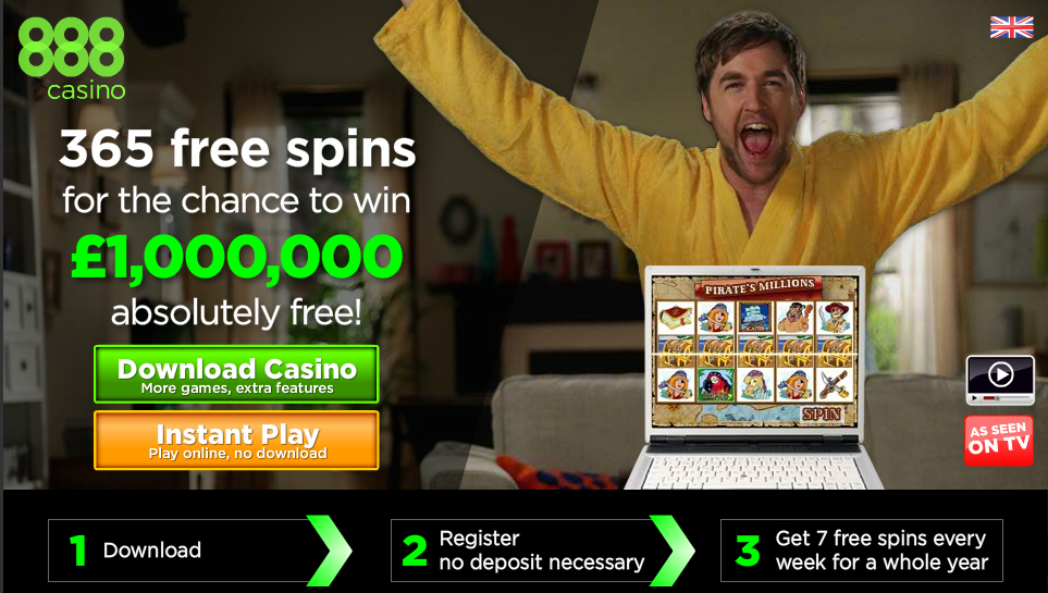 Win a Million with 888 Free Slots Bonus!!