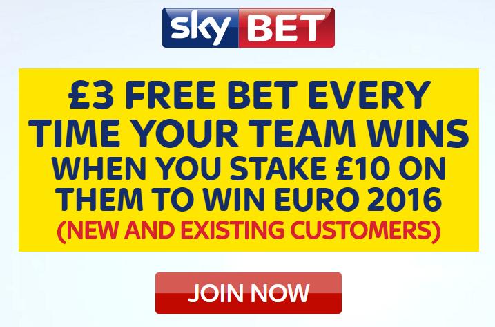 SkyBet Euro 2016 Offer