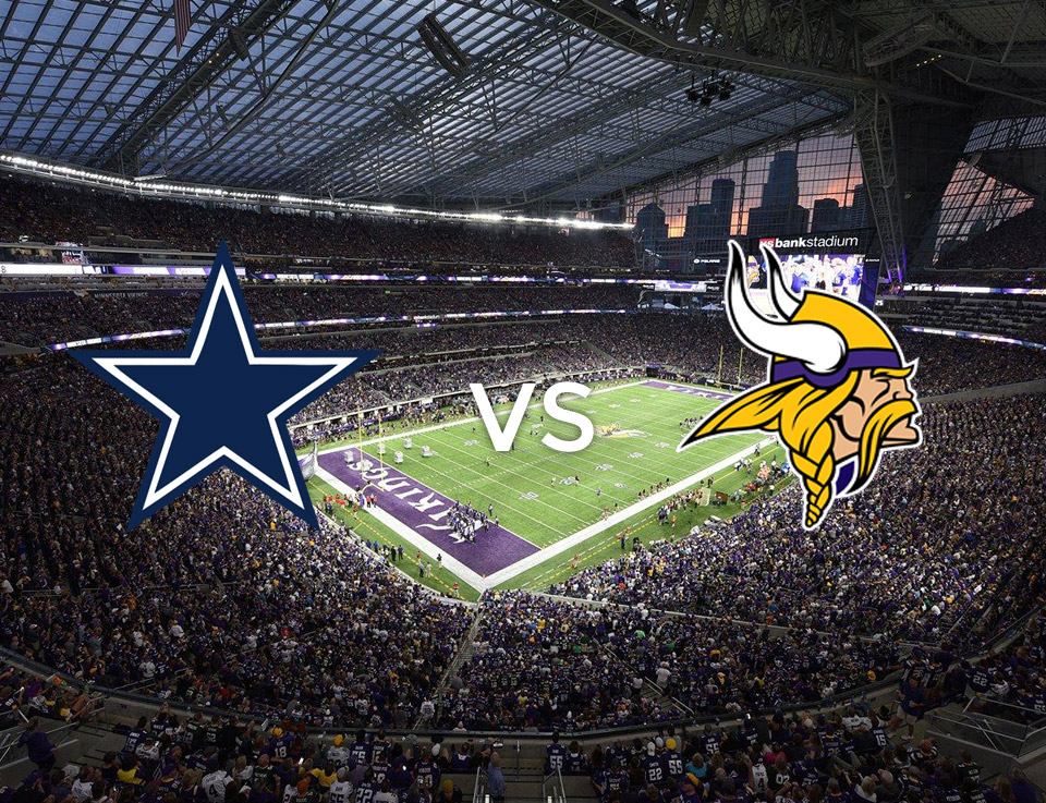 Image result for Dallas Cowboys vs. Minnesota Vikings