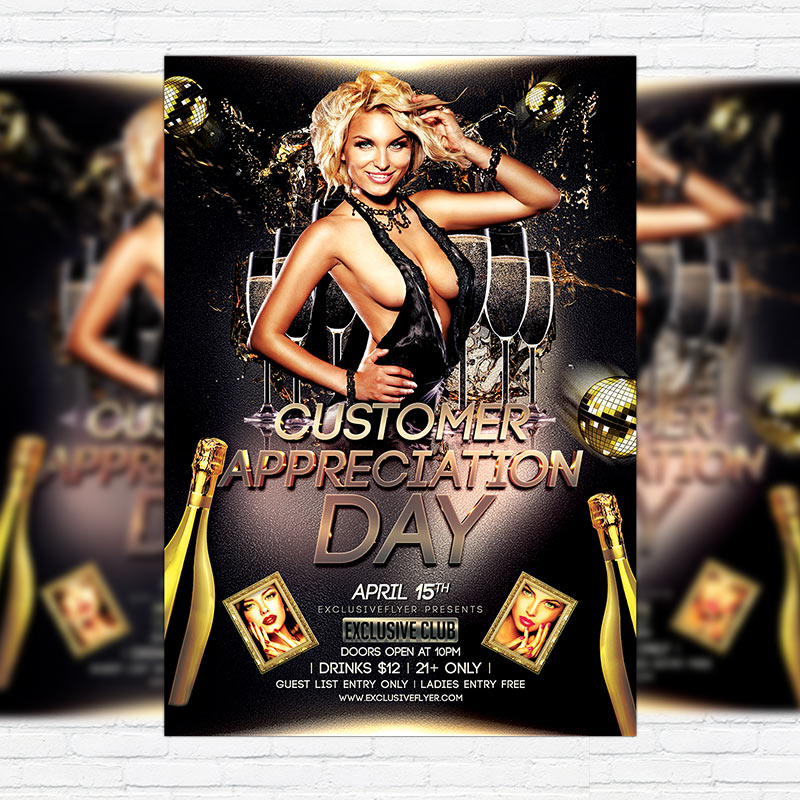 customer appreciation flyer template