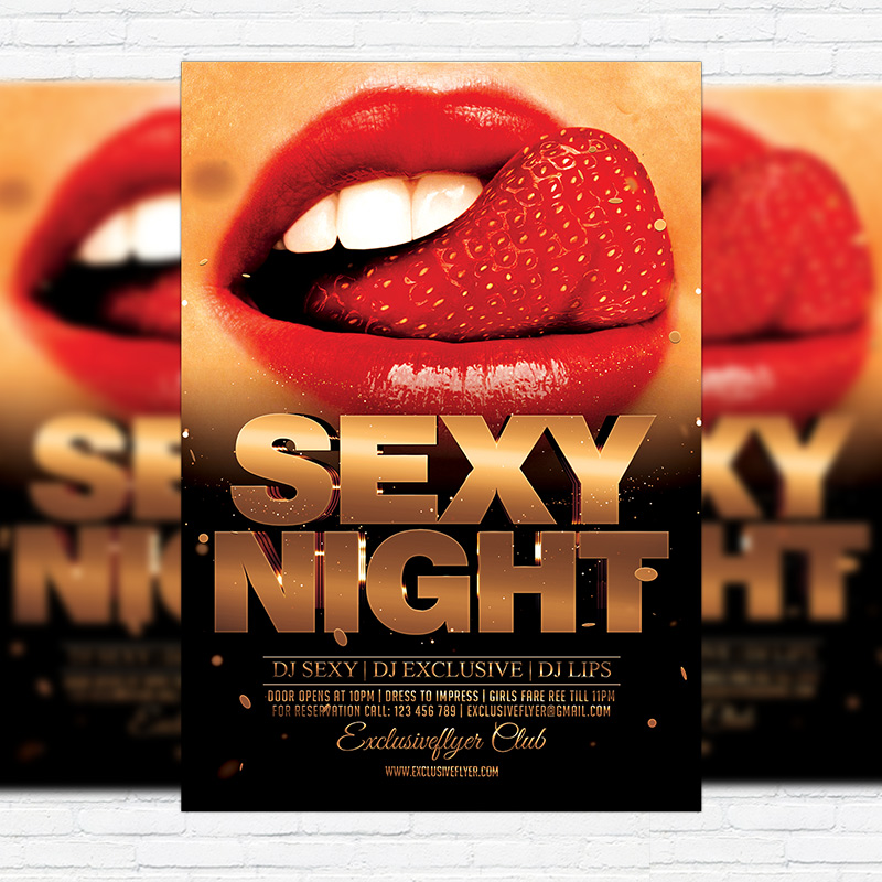 Sexy Night Party Premium Flyer Template Facebook Cover