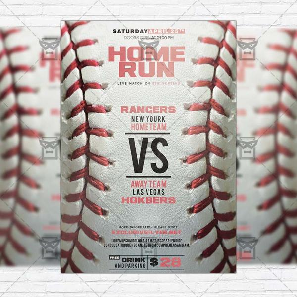 Baseball Game Premium Flyer Template Instagram Size Exclsiveflyer Free And