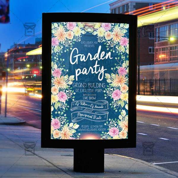 Garden Party Premium Psd Flyer Template Exclsiveflyer Free And Templates
