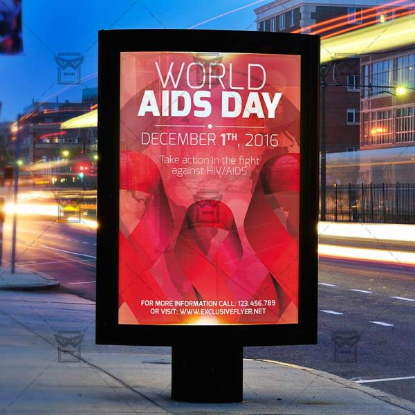 World Aids Day Premium Flyer Template Exclsiveflyer Free And Psd Templates