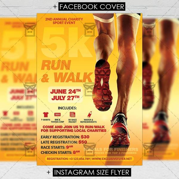 5K Run Flyer Templates for Free