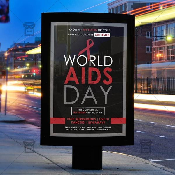 World Aids Day Free Community A5 Flyer Template Exclsiveflyer And Premium Psd Templates