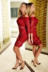 Amazing Esme classy in red dress