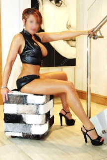 Lucy Wet look on stairs by massage parlour in Guildford
