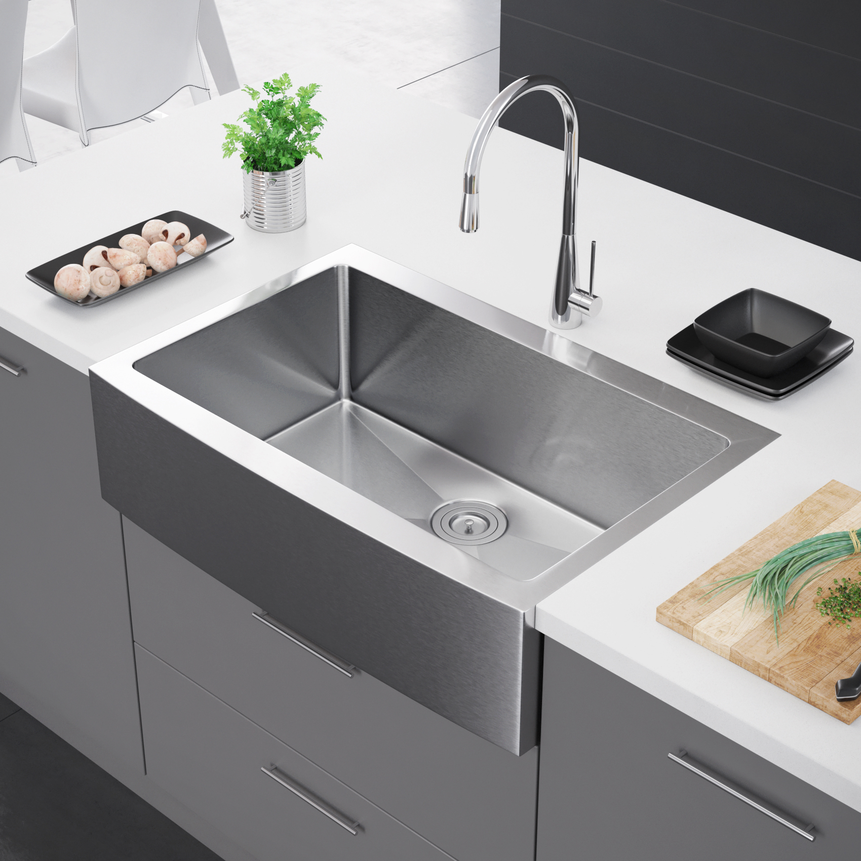 farmhouse kitchen sinks sink plumbing exclusive heritage 33 x 22 single bowl stainless steel