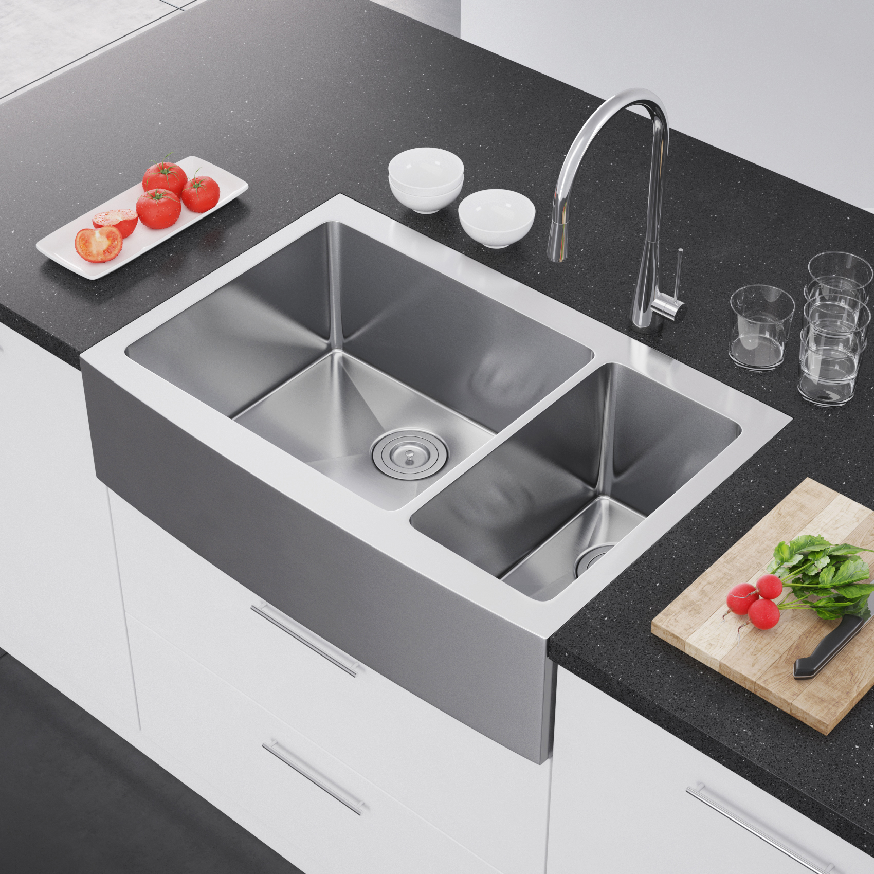 single bowl stainless kitchen sink size exclusive heritage 36″ x 22″ double 70/30 ...